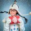 Funny christmas girl — Stock Photo #52805093