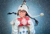 Funny christmas girl — Stock Photo