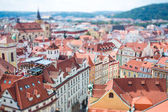 Prague - Tilt shift lens. — Stock Photo