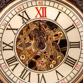 Close up on vintage clock — Stock Photo