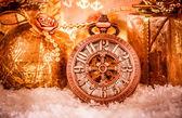 Kerstmis zakhorloge — Stockfoto