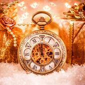 Relógio de bolso de natal — Foto Stock