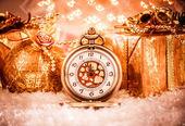 Christmas pocket watch — Stock Photo