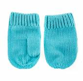 Baby woolen mittens — Stock Photo