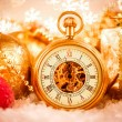 Christmas pocket watch — Stock Photo #54750589