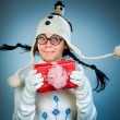 Funny christmas girl — Stock Photo #54750597