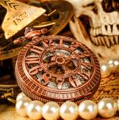 Ročník kapesní hodinky — Stock fotografie