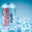 Постер, плакат: Can of Coca Cola Lignt on ice