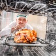 Funny chef perplexed and angry. Loser is destiny! — Stock Photo #57583055