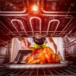 Cooking chicken in the oven at home. — Stock Photo #57583157