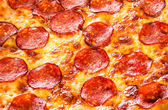 Pepperoni pizza närbild — Stockfoto