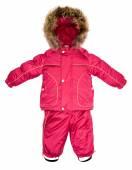 Childrens snowsuit fall — Stock Photo