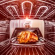 Cooking chicken in the oven. — Stockfoto #58190457