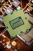 Modern processor and motherboard — Stock Photo