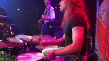 Musician playing drums — Stock Video