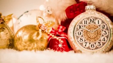 Christmas watch still life — Stok video