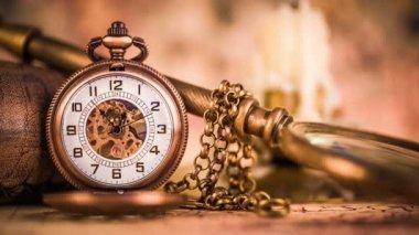 Antique pocket watch. — Stock Video