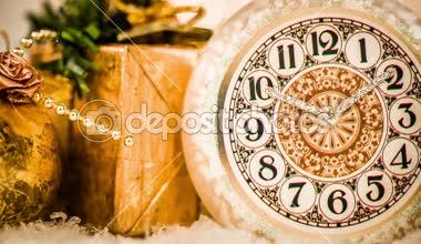 Christmas watch still life — Stock Video