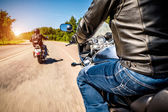 Bikers First-person view — Stock Photo