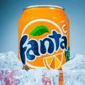 Can of Fanta Orange — Stock Photo