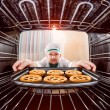Chef cooking in the oven. — Stockfoto #65048783