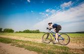 Women on bike — Stock Photo