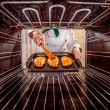 Chef cooking in the oven. — ストック写真 #72876027