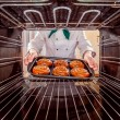 Chef cooking in the oven. — ストック写真 #72876051
