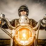 Biker racing on the road — ストック写真 #72876179