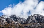 Snowy mountain. — Stock Photo