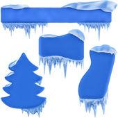 Set of winter frames — Stock Photo