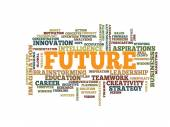 Business future word cloud — Stock Vector