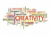 Creative word cloud — Stock Vector