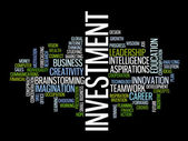 Investment strategy word cloud — Stock Vector