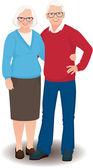 Senior couple in full length — Stock Vector
