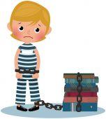 Child prisoner — Vettoriale Stock