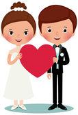 Groom and bride — Stock Vector