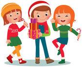 Children Christmas Party — Stock Vector