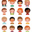 Set of avatars of different boys and girls — Stock Vector #58619787