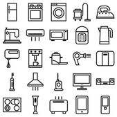 Home Appliances linear icons — Vector de stock