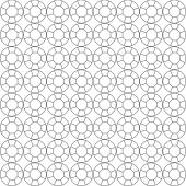 seamless pattern of circuit cut gems on white — Stock Vector