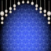 真珠や装飾品のペンダントと背景 — ストックベクタ