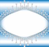 background with precious stones and pearls with space for text — Vetorial Stock