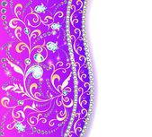 background frame with jewels of ornaments — Vector de stock