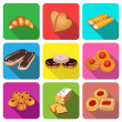 set of icons on a theme cake baking cookies — Stock Vector #63980425