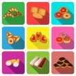 set of icons on a theme cookie cake — Stock Vector #63980443