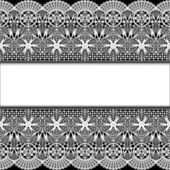 Background with stripes white lace and place for text — Stock Vector