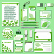 Design template for business objects from an environmental theme — Stock Vector #67644929
