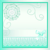 Background card with a bow and delicate flower — Stockvektor