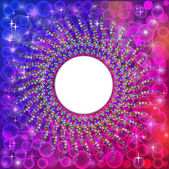 Background frame abstract bright neon mosaic circle — 图库矢量图片